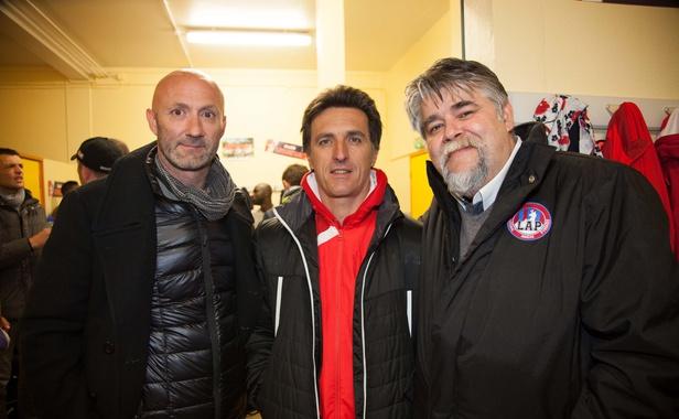 Fabien Barthez, Christophe Pélissié et Jérôme Ducros,