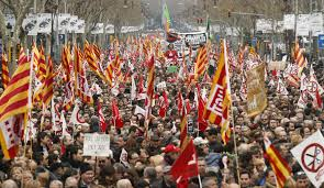 Austerity protests in Catalunya