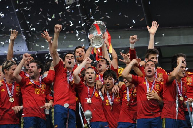 Spain winning the European Championships