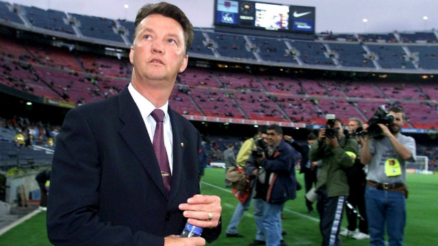 Van Gaal at the Camp Nou