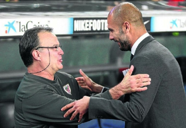 There's a deep mutual respect between Bielsa and Guardiola