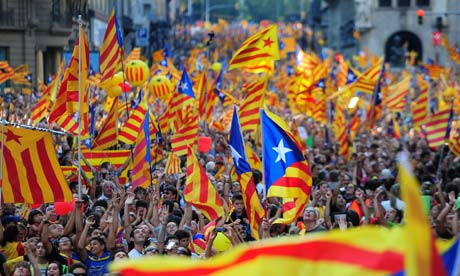 Independence is a popular cause in Catalunya.