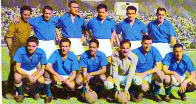 In a Millonarios team picture