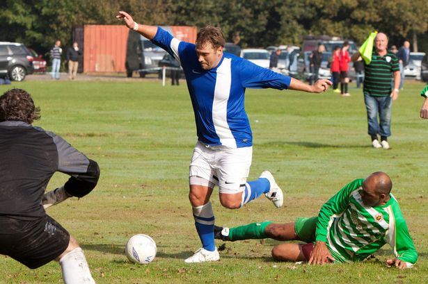 'Stan' back home on the football pitch with Wychall Wanderers.