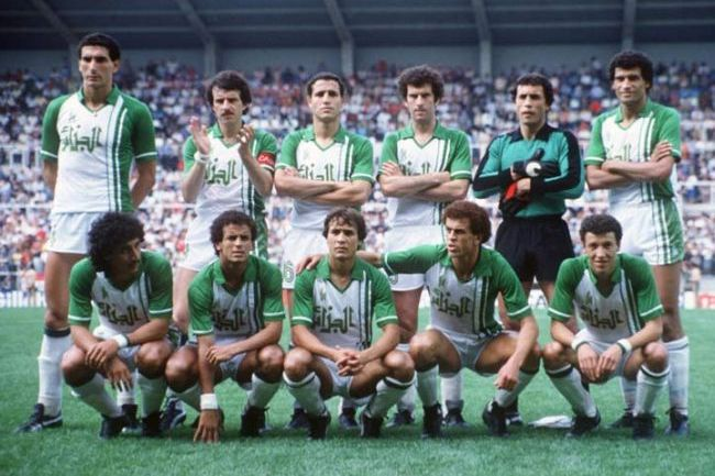 The Algerian team in the 1982 World Cup - were they the victims of one of the game's biggest stitch-ups?