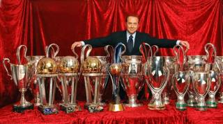 Berlusconi has always been happy to wrap the success of AC MIlan around him and bask in its reflective glory. Now however, such images only contrast the glorious past with a disappointing present.