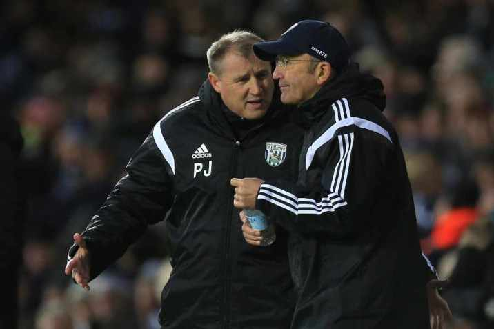 Pulis and Jewell in tandem at The Hawthorns. Blink and you'd have missed it though!