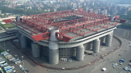 The San Siro, home to both AC Milan and Internazionale. Like the stadium however, the fortunes of both clubs are starting to look a little the worse for wear.
