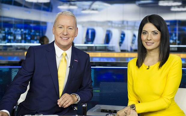 Genial Jim White and the calming Natalie Sawyer; hyping up deadline day is difficult when nothing happens.