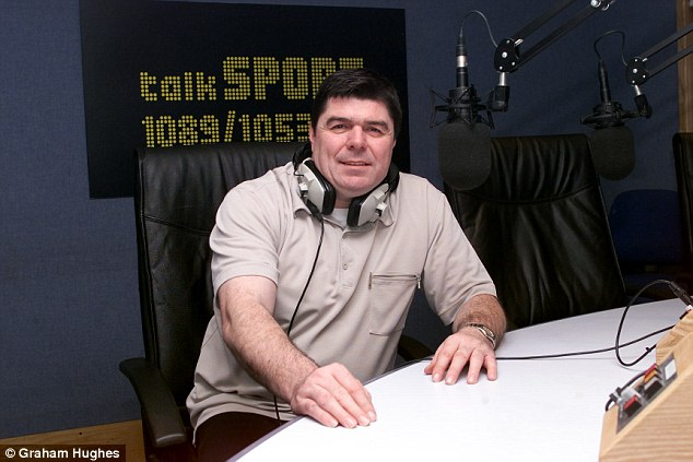 Quinn in his talkSPORT studio, probably about to receive another silent apology from yours Truly.
