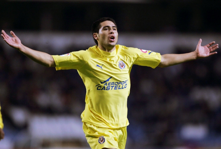 Riquelme's time with Villareal saw the 'Yellow Submarine' become a force in La Liga and reach the semi-finals of the Champions League