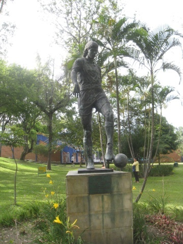 The statue of Andres Escobar
