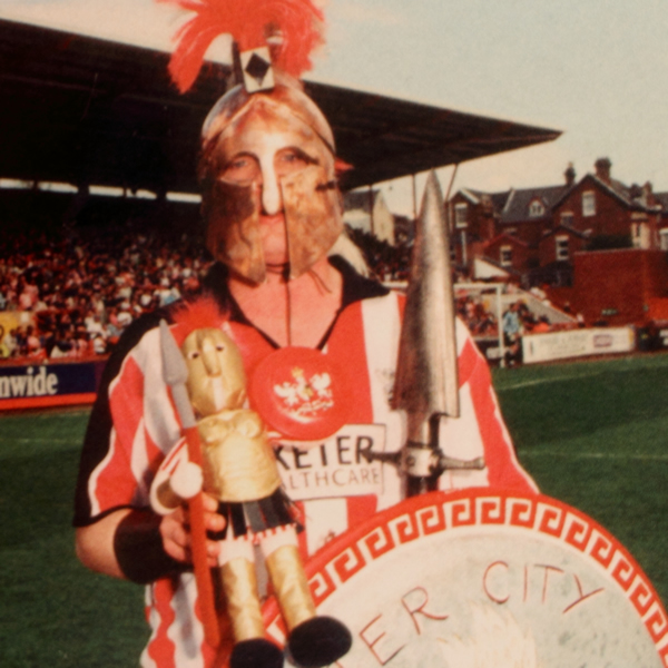 The Exeter City mascot