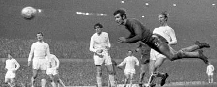 Osgood's diving header to bring the scores level at the Old Trafford reply of the 1970 FA Cup Final