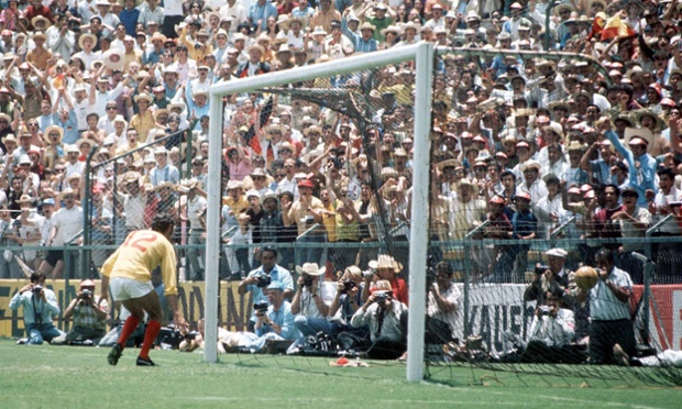 Bonetti looks on despairingly as Beckenbaur's shot eludes him and turns the game for West Germany.
