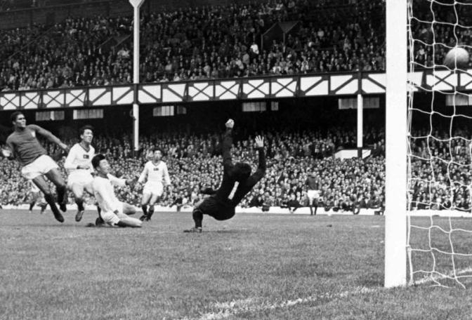 sanity is restored as Eusebio nets one of his four goals that eventually overwhelmed the North Koreans, and saved Portugal's blushes.