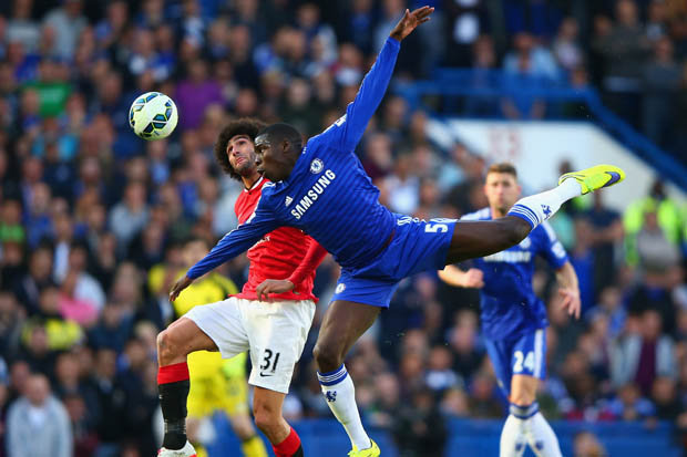 Jose mourinho was concerned enough about the threat of Fellaini to deploy Kurt Zouma - normally a centre-back - in a midfield role to contain the Belgian.