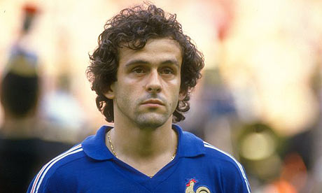The Maestro - Michel Platini, captainof the French team and weaver of poetic football.