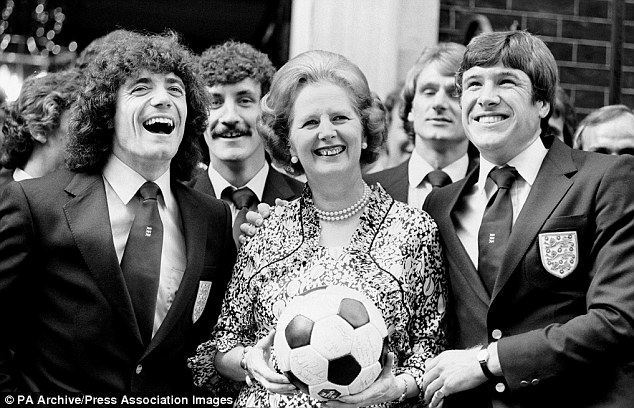 Despite being happy to cosy up to members of the England team, Margaret Thatcher was no fan of football.
