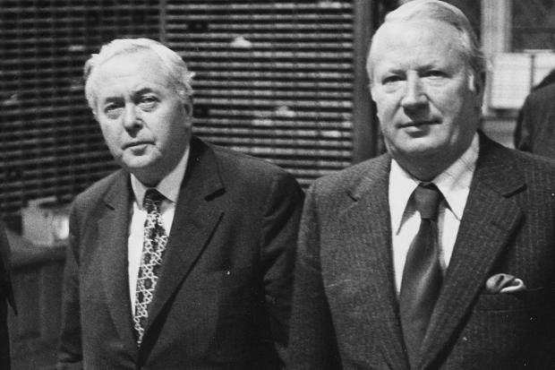 Harold Wilson and Ted Heath - political adversaries in the sixties and seventies