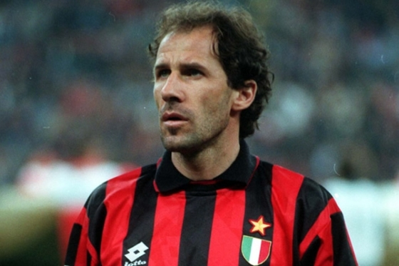Franco Baresi - Hero of the Milam tifosi and perhaps the best defender ever to grace the beautiful game.